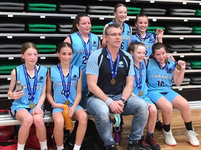St Marys Sharks Girls Under 12.1 team